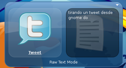 Gnome-do + tweet