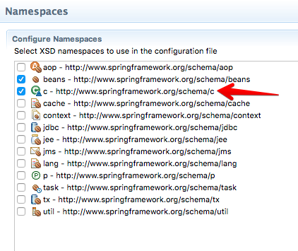 STS - Spring Namespaces Config